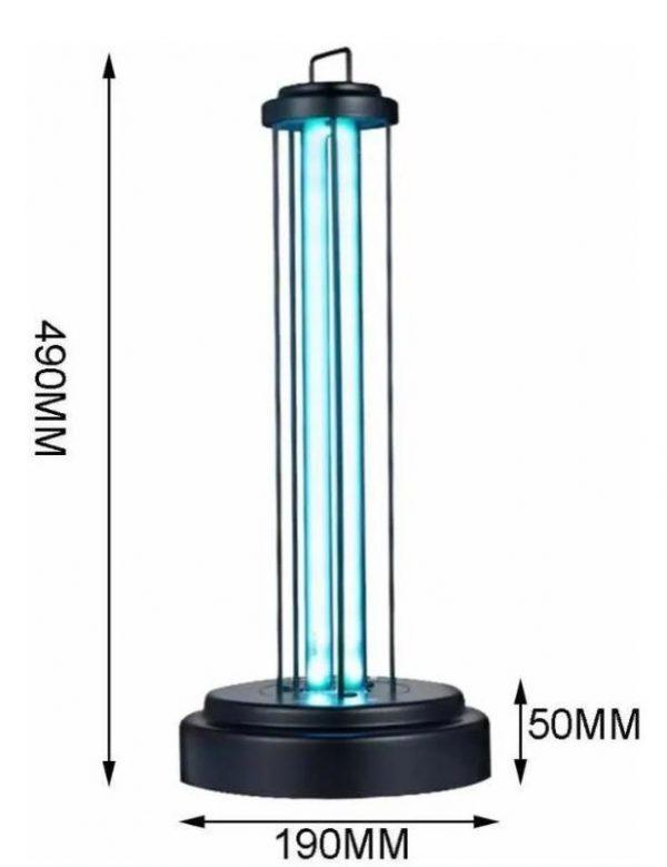 lámpara germicida uv